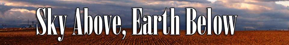 sky above earth below banner