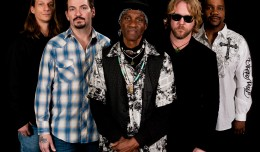 Royal Southern Brotherhood: Earning their self-bestowed sovereignty. From left: Charlie Wooten (bass); Mike Zito (guitar, vocals); Cyrill Neville (percussion, vocals); Devon Allman (guitar, vocals); Yonrico Scott (drums).