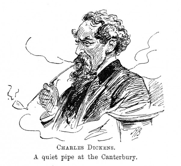 Charles Dickens sketch published by Alfred Bryan in Entr'acte Annual, 1892