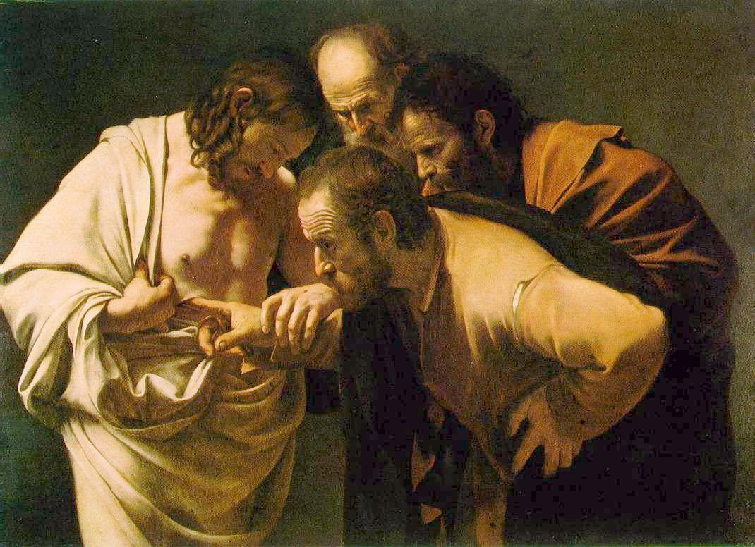 Caravaggio, The Incredulity of St. Thomas, c. 1601-1602