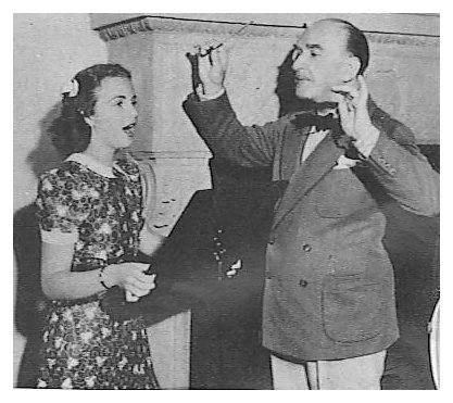 Deanna Durbin and her famed vocal coach, Andres de Segurola