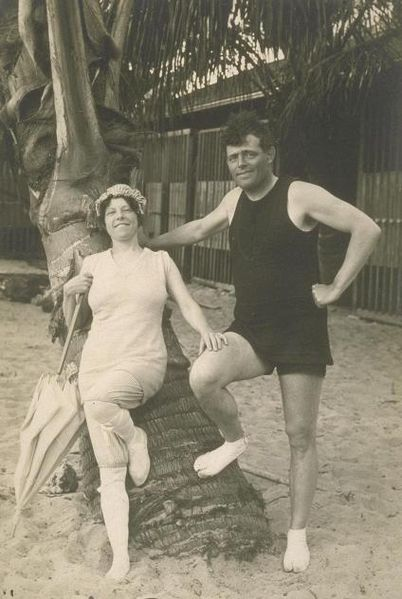 Jack London and his wife Charmian.
