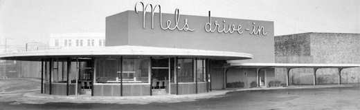 Another cool pic of the first Mels drive-in two days before the grand-opening on December 23, 1947.