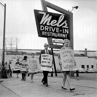 Picketers ask, Where are the negro waitresses?