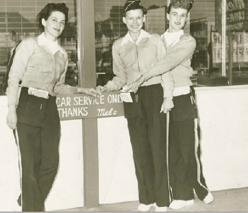 As many as 14 girl carhops provided fast service and inspired repeat visits.