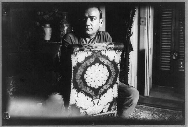 Enrico Caruso in his last portrait, dressed in pajamas, in his apartment at the Hotel Vesuve in Naples, where he died on August 2, 1921, a few days after R. Carbone took this photograph. (Photo courtesy Library of Congress Prints and Photographs Division Washington, D.C. 20540 USA)