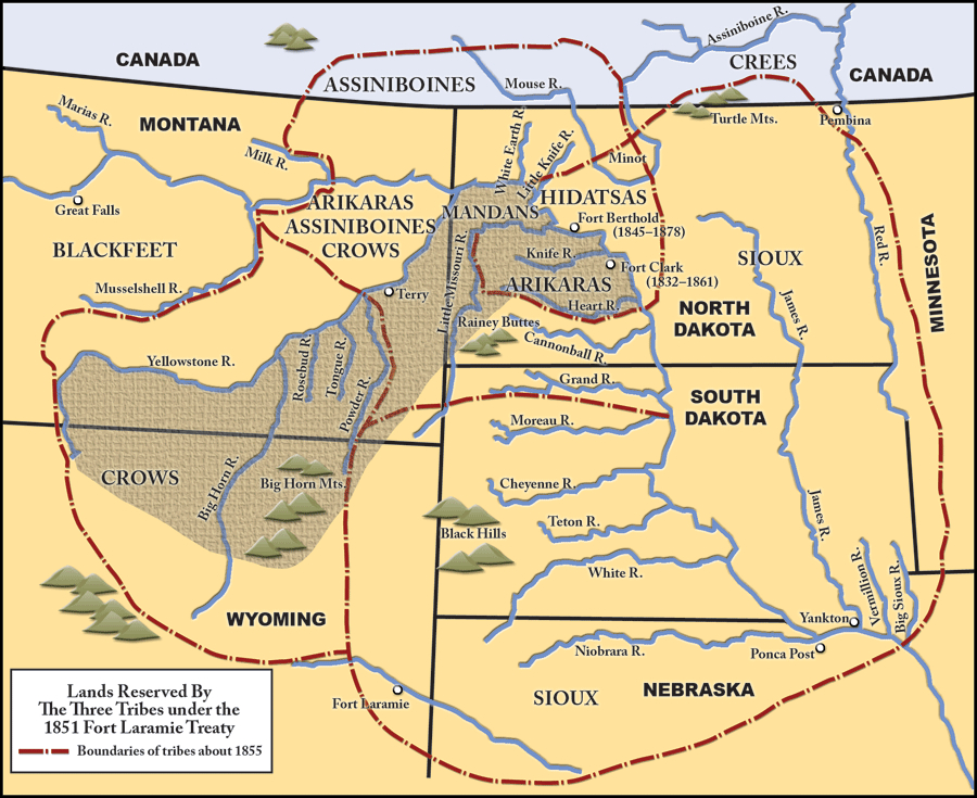 Fort Laramie Treaty lands, 1851