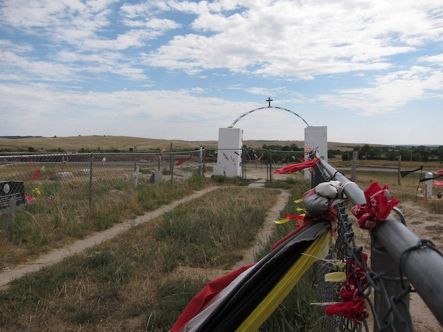 The Wounded Knee mass grave as it looks now