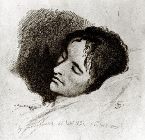ohn Keats in his Last Illness, a sketch by Joseph Severn. At the bottom, in Severn's hand, is the artist's signature, and the date and time: 28 Jan 1821, 3 O'clock morn. This sketch was published in The Century Illustrated Monthly Magazine, May to October, 1883