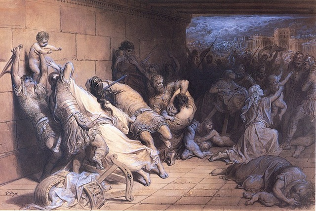 The Martyrdom of the Holy Innocents, painting by Gustave Dore, 1888