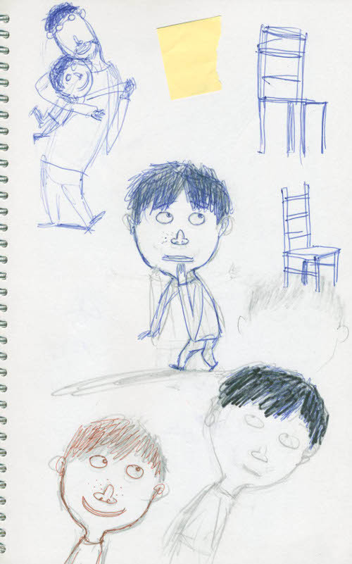 Klaas's character studies, based on Pieterjan's self-portrait