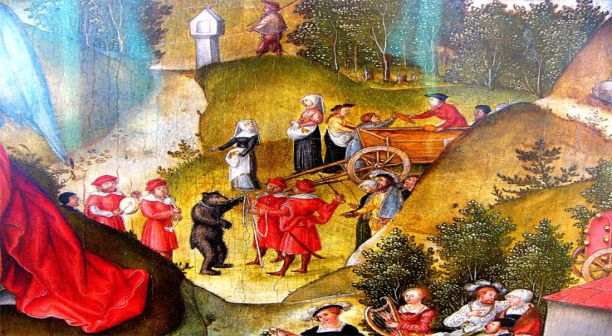 Detail from Melancholia in the Garden of Life by Matthias Gerung (1558)