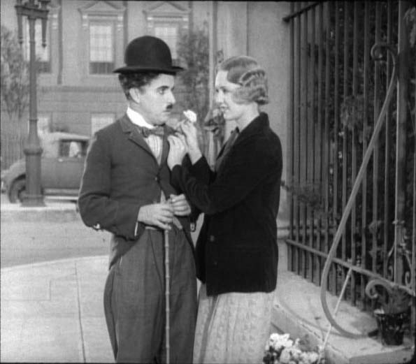 Chaplin with flower girl Virginia Cherrill in City Lights