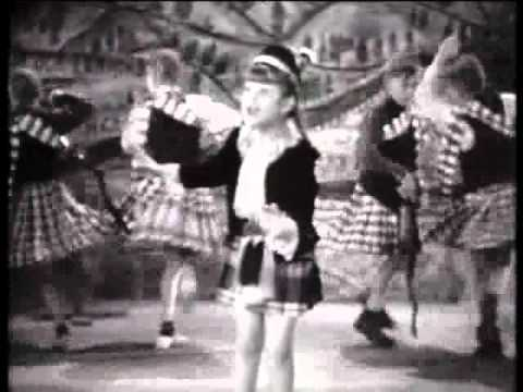 Annie Ross, age seven, sings 'The Bonnie Banks o' Loch Lomond' in Our Gang Follies of 1938