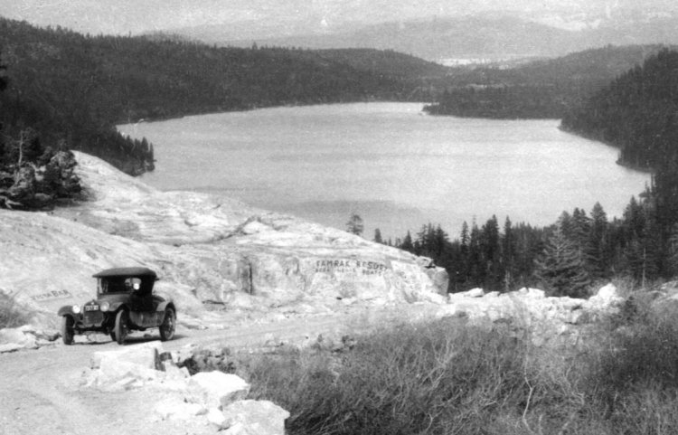 With the invention of the automobile, the pass over Donner Summit was made accessible and from 1913 to 1928, the Lincoln Highway crossed the Sierra through Donner Pass, following most of the old Dutch Flat-Truckee route. This was part of the nation's first coast-to-coast road for automobiles.