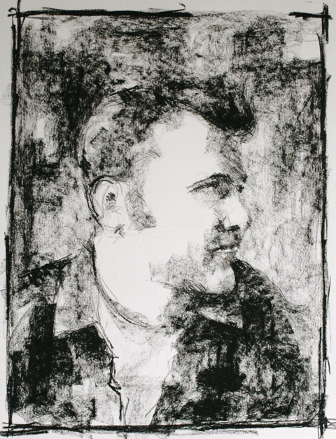 Sean Costello: 'His was a beautiful heart…' (charcoal portrait of Sean Costello by Charles Ducroux posted at L'oreille Bleue, www.loreillebleue.fr)