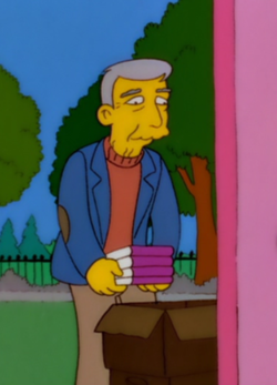 John Updike on The Simpsons, episode 3, season 12, 'Insane Clown Poppy'