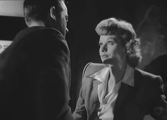 "Lucille Ball with Mark Stevens in The Dark Corner: director Henry Hathaway's bullying led Lucy to be ""vocal about hating the experience of shooting The Dark Corner.'"
