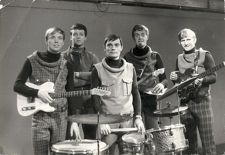 The Spotnicks in 1965 with drummer Jimmy Nicol, he being better known for replacing an ill Ringo Starr on the eve of The Beatles' 1964 Australasian tour. Nicol played a total of eight shows until Starr rejoined the group in Melbourne, Australia, on 14 June. He was unable to say goodbye to The Beatles as they were still asleep when he left, and he did not want to disturb them. At Melbourne airport, Epstein presented him with a check for £500 and a gold Eterna-matic wristwatch inscribed: 'From The Beatles and Brian Epstein to Jimmy--with appreciation and gratitude.' George Martin later paid tribute to Nicol while acknowledging the problems the sub drummer experienced in trying to re-adjust to a normal life again: 'Jimmie Nicol was a very good drummer who came along and learnt Ringo's parts very well. He did the job excellently, and faded into obscurity immediately afterwards.' It was a rough ride for Nicol for many years thereafter, although he continued working with various groups and otherwise remained active in music while establishing another career as a businessman in housing renovation. In 1988 reports surfaced concerning Nicol's death, but in 2005 came confirmation that he was living in seclusion in London. Read more at his Wikipedia entry. Photo©Roland Ferneborg