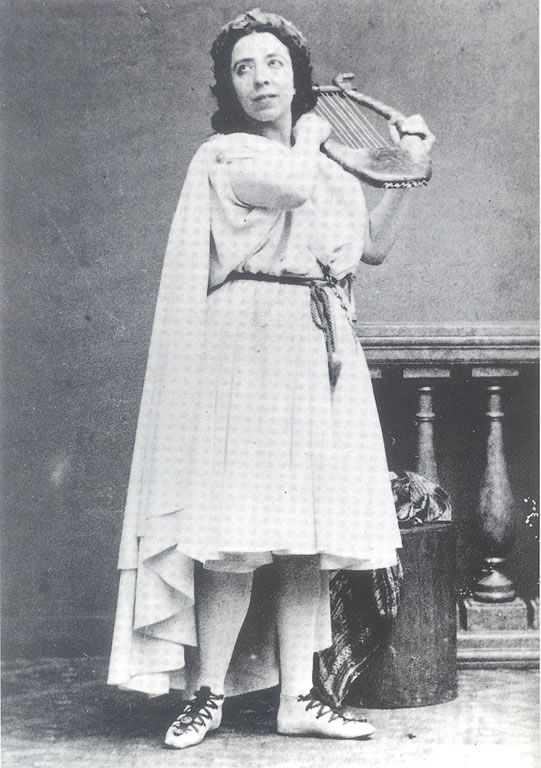 Pauline Garcia Viardot in the title role of Gluck's opera Orphée (1860)