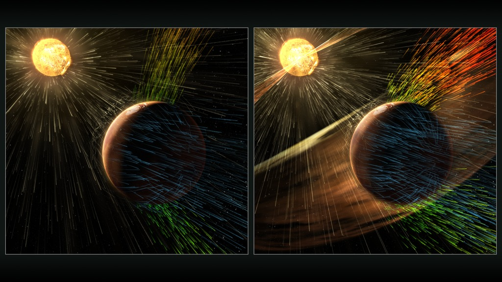 NASA Mission Reveals Speed of Solar Wind Stripping Martian ...