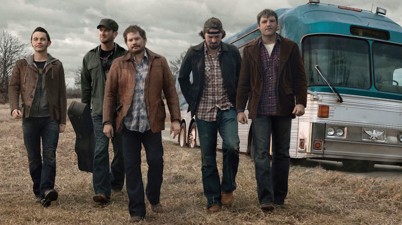 Randy Rogers Band (Randy, third from left): Taking it inside…
