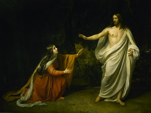 Christ Appearance to Mary Magdalene after the Resurrection, painting by Alexnder Ivanov (1805-1858), oil on canvas, 1835