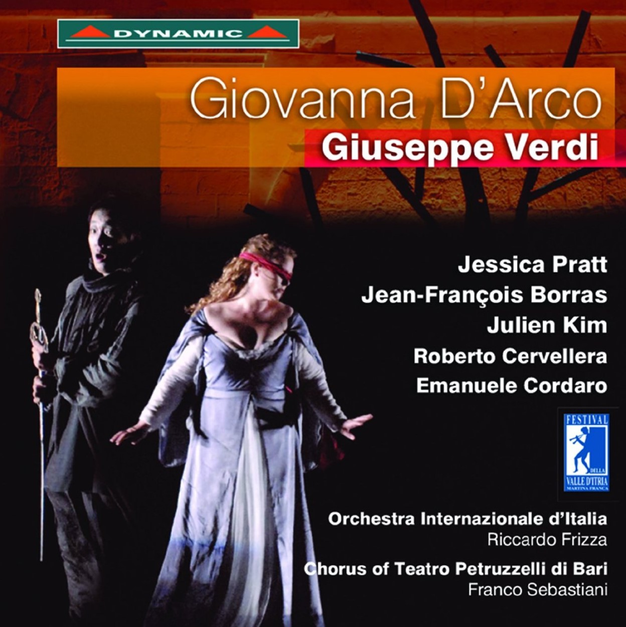 Lady with a mission: Soprano Jessica Pratt, star of Festivale della Valle d'Itria's 2013 production of Giuseppe Verdi's Giovanna d'Arco, released on CD and DVD by Dynamic [Cover art © by Dynamic]