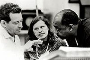 John and Faith Hubley with jazz great Benny Carter