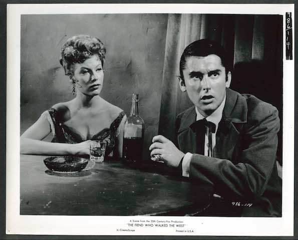 Robert Evans and Dolores Michaels in The Fiend Who Walked the West