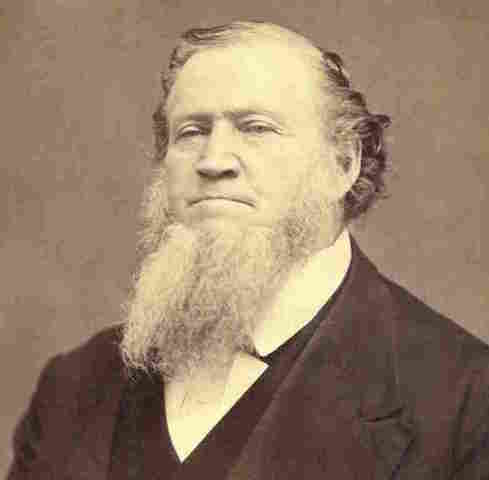 'I heard Brigham Young in the Tabernacle the other day warning his people that if they did not mend their manners angels would not come into their houses, though perchance they might be sauntering by with little else to do than chat with them.'