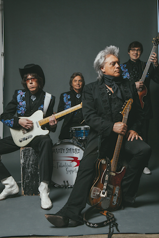 Marty Stuart and His Fabulous Superlatives (Marty, center, with, from left: Kenny Vaughan, Harry Stinson and Chris Scruggs): Photo: Alysse Gafkjen