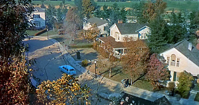 The set of All That Heaven Allows later became the bucolic suburban neighborhood of Leave It To Beaver